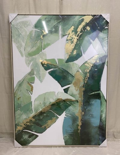 Framed Tropical Leaves canvas