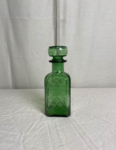 Green Glass Decanter with Lid