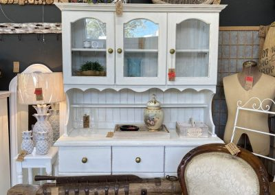 White Hand Painted Buffet + Hutch