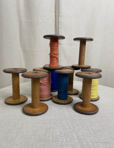 Vintage Sewing/ Textile Spindles And Decor