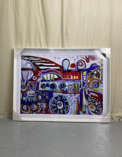 Picasso Style City Scape Wall Art