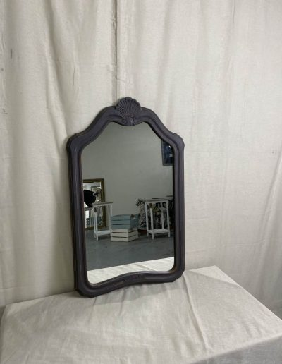 Charcoal Carved Timber Mirror